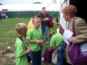 Kids talk about their author interviews.