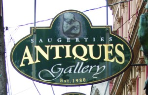 Antique sign in Saugherties, NY